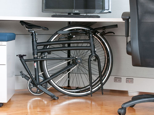 Montague Folding Bike Under Desk