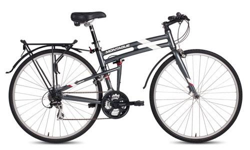 Urban folding bike open