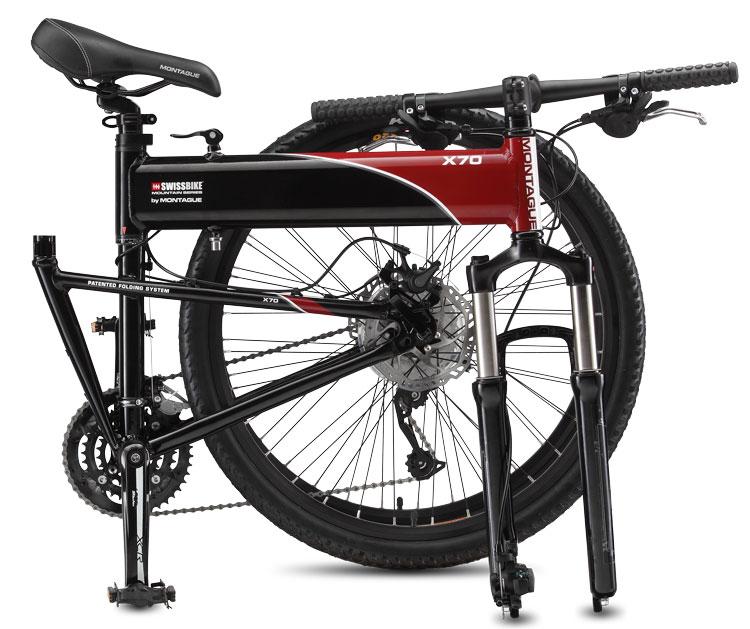 X70 Folding Bike Folded