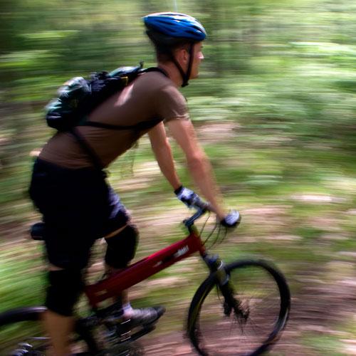 Montague X0 Folding Mountain Bike in Action