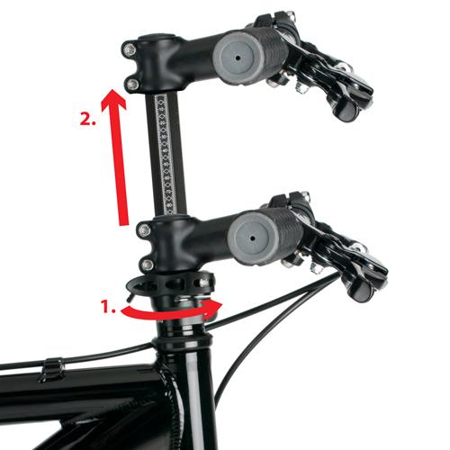 Octagon Handle Bar Height Adjustment