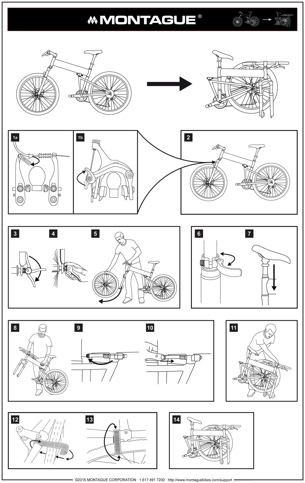 Bike Folding Instructions Diagram