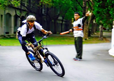 Hao-En Wang Triathlon Competition with Paratrooper