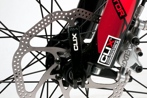 Folding Bike Features CLIX Closeup