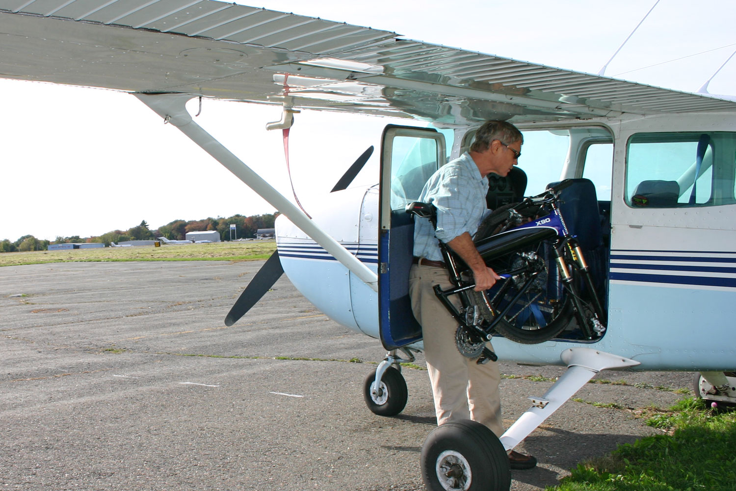 X90 Folding Bike Into Private Plane