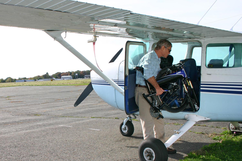 X90 Folding Bike Into Private Plane