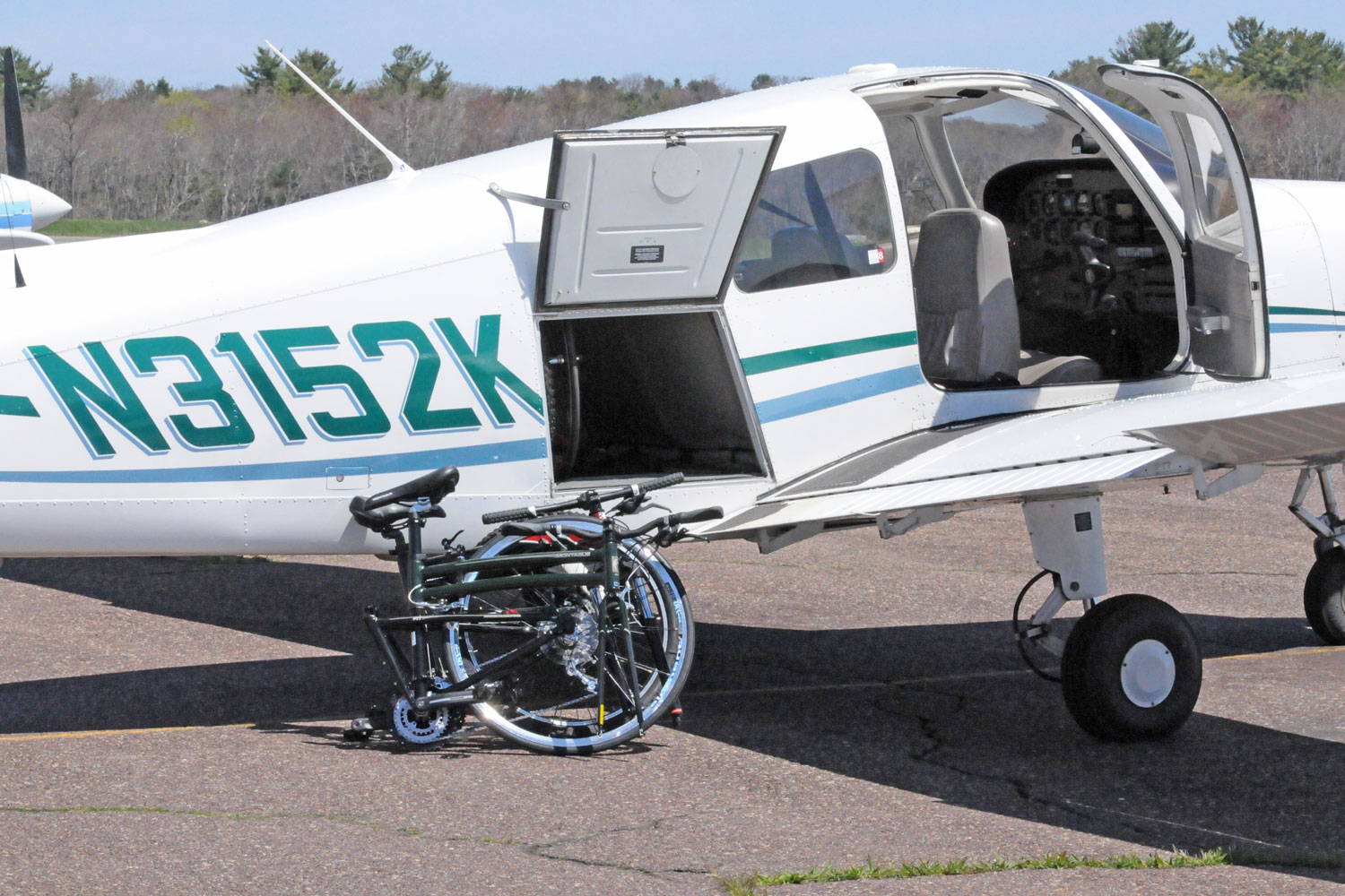 Folding Bikes near Private Plane