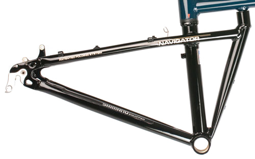 Power Angle on Folding Bike Frame