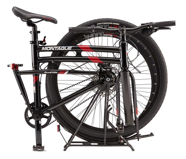 Allston Belt Drive Folding Bike Folded