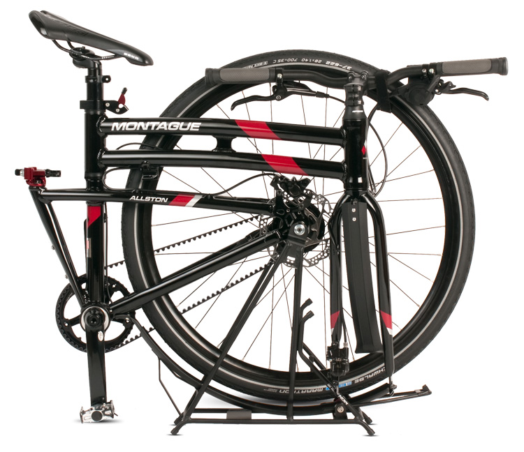 Allston DirectConnect folding bike on Rackstand