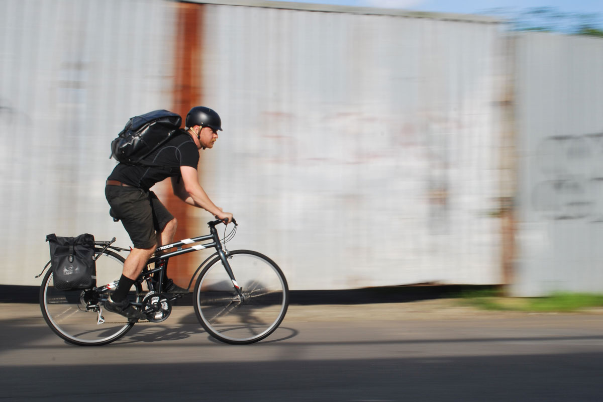 Commuting on Montague Urban Folding Bike