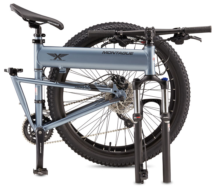 Paratrooper Highline folding bike Folded