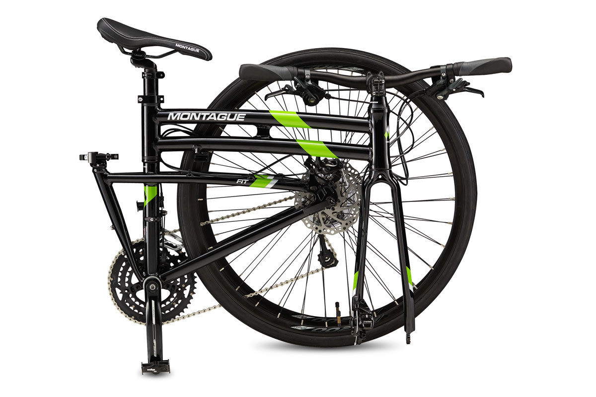 Allston Belt Drive Folding Bike Folded